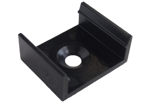 Avide Alu Profile Normal Mounting Clip Black