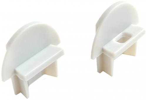 Avide Alu Profile Recessed End Cap - 2pcs in a set