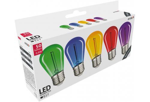 Decor LED Filament bulb 0.6W E27 Blue (Green/Blue/Yellow/Red/Purple)