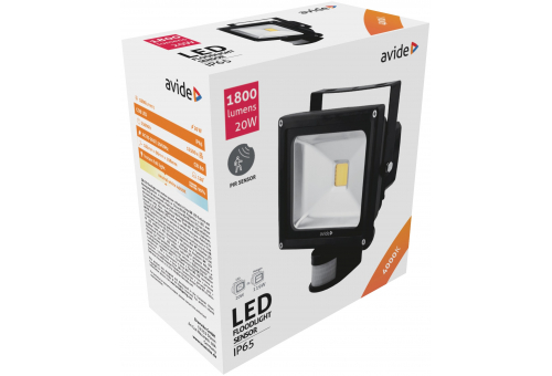 Avide LED Flood Light 20W NW 4000K PIR