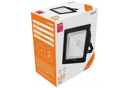 Avide LED Flood Light 50W NW 4000K