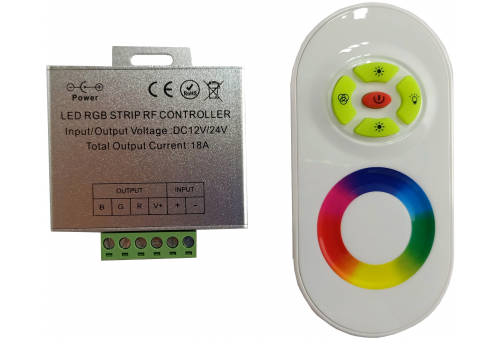 Avide LED Strip 12V 216W RGB 5 Keys RF Touch Remote and Controller