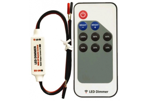 Avide LED Strip 12V 72W Dimmer 9 Keys RF Remote and Controller