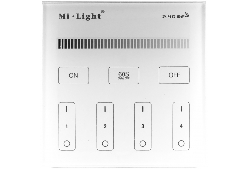 Avide LED Strip 12V Dimmer 4 Zone RF Surface Mounted /2xAAA/ Touch Remote and Controller
