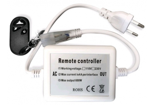 Avide LED Strip 220V 600W Dimmer 3528 SMD RF Remote and Controller