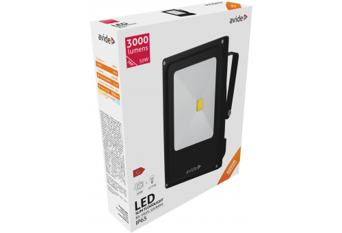 Avide LED Flood Light Slim 50W NW 4000K