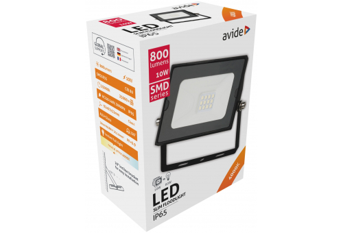 Avide LED Flood Light Slim SMD 10W  NW 4000K