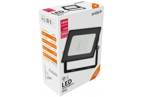 Avide LED Flood Light Slim SMD 20W NW 4000K