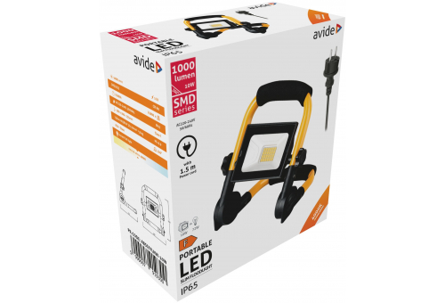 Avide LED Flood Light Slim SMD 10W with Stand 1.5m NW 4000K