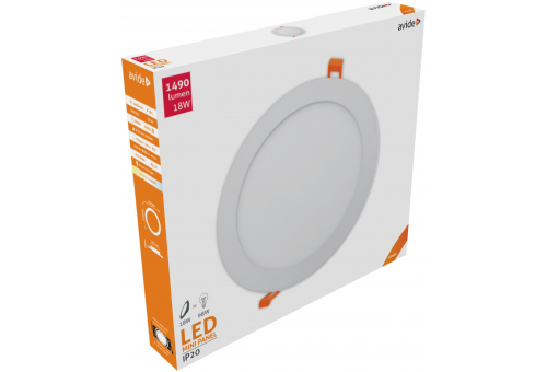 Avide LED Ceiling Lamp Recessed Panel Round ALU 18W NW 4000K