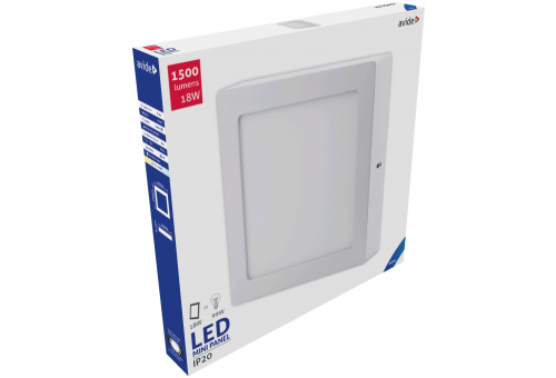 Avide LED Ceiling Lamp Surface Mounted Square ALU 18W CW 6400K
