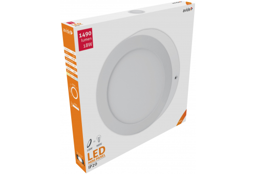 Avide LED Ceiling Lamp Surface Mounted Round ALU 18W NW 4000K