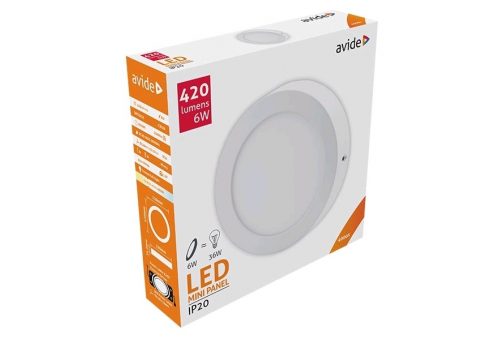 Avide LED Ceiling Lamp Surface Mounted Round ALU 6W NW 4000K